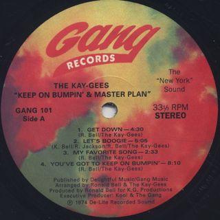 Kay-Gees / Keep On Bumpin' & Masterplan label
