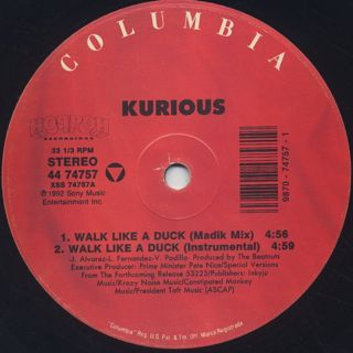 Kurious / Walk Like A Duck label