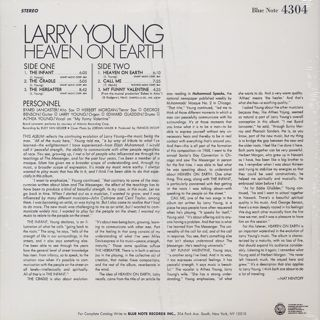 Larry Young / Heaven On Earth back