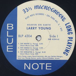 Larry Young / Heaven On Earth label