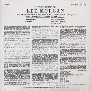 Lee Morgan / The Sidewinder back