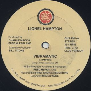 Lionel Hampton / Vibramatic label