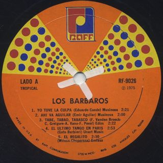 Los Barbaros / Los Barbaros Vol. XI label