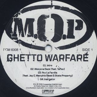 M.O.P. / Ghetto Warfare label
