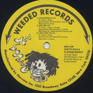 Mad Lion / Ghetto Gold & Platinum Respect label