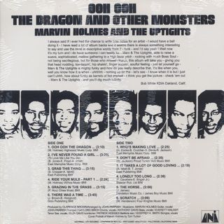 Marvin Holmes And The Uptight / Ooh Ooh The Dragon And Other Monsters back