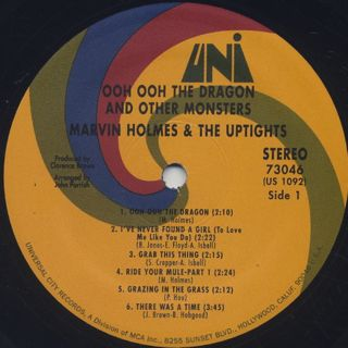 Marvin Holmes And The Uptight / Ooh Ooh The Dragon And Other Monsters label