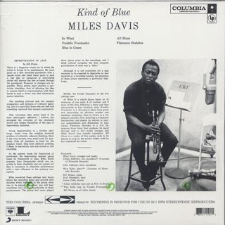 Miles Davis / Kind Of Blue back