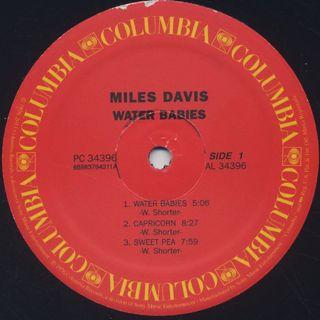 Miles Davis / Water Babies label