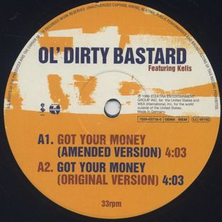 Ol' Dirty Bastard / Got Your Money label
