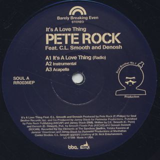 Pete Rock / It's A Love Thing back