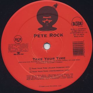 Pete Rock / Take Your Time label