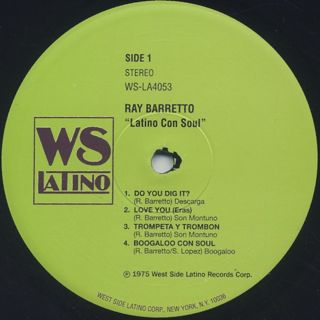 Ray Barretto / Latino Con Soul label
