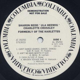Sharon Redd, Ula Hedwig, Charlotte Crossley / Formerly Of The Harlettes label