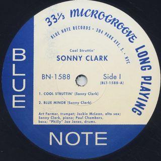 Sonny Clark / Cool Struttin' label