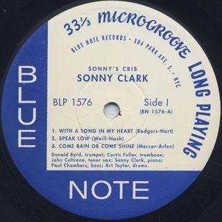 Sonny Clark / Sonny's Crib label