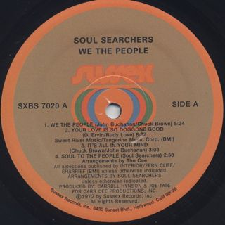 Soul Searchers / We The People label