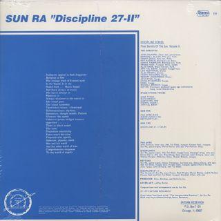 Sun Ra And His Astro Intergalactic Infinity Arkestra / Discipline 27-II back