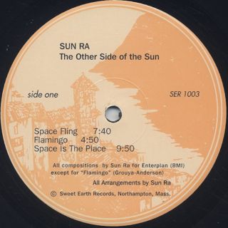 Sun Ra / The Other Side Of The Sun label