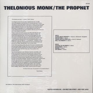 Thelonious Monk / The Prophet back