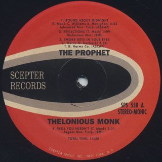 Thelonious Monk / The Prophet label
