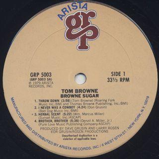 Tom Browne / Brown Sugar label