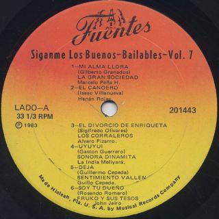 V.A. / Siganme Los Buenos Bailables Vol. 7 label