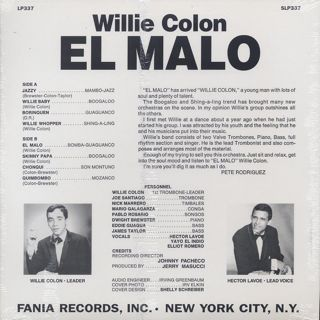 Willie Colon / El Malo back