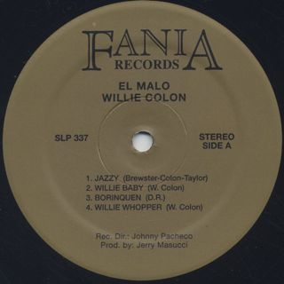 Willie Colon / El Malo label