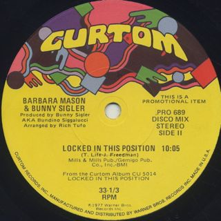 Barbara Mason & Bunny Sigler / Love Song label