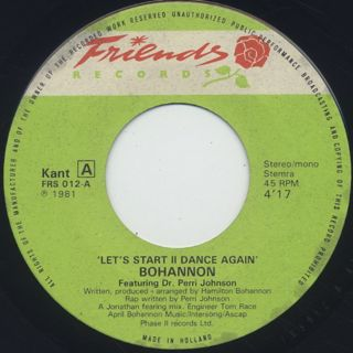 Bohannon / Let's Start II Dance Again back