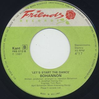 Bohannon / Let's Start II Dance Again label