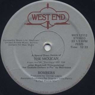 Bombers / The Mexican c/w Dance, Dance, Dance back