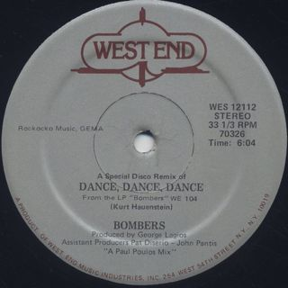Bombers / The Mexican c/w Dance, Dance, Dance label