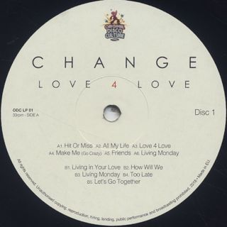 Change / Love 4 Love label