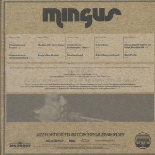Charles Mingus - Jazz In Detroit / Strata Concert Gallery / 46 Selden back