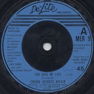 Crown Heights Affair / You Gave Me Love c/w Use Your Body & Soul back