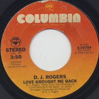 D.J. Rogers / Love Brought Me Back (7