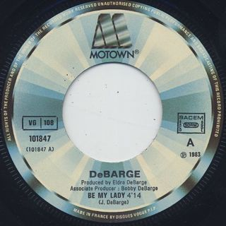 DeBarge / Be My Lady c/w Time Will Reveal label