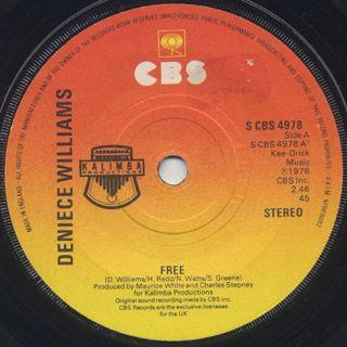 Deniece Williams / Free c/w Cause You Love Me Baby