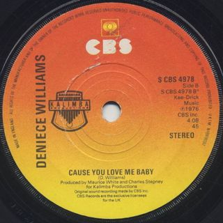 Deniece Williams / Free c/w Cause You Love Me Baby back