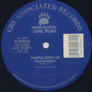 Earl Flint / People Hold On back