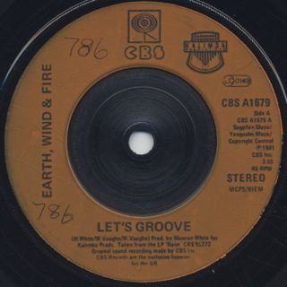 Earth, Wind & Fire / Let's Groove front