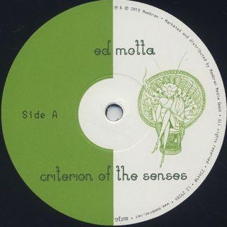 Ed Motta / Criterion Of The Senses label