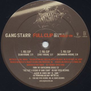 Gang Starr / Full Clip c/w DWYCK back