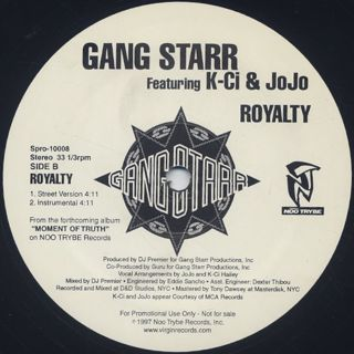 Gang Starr / Royalty back