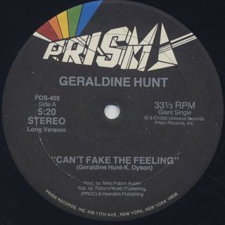 Geraldine Hunt / Can't Fake The Feeling back