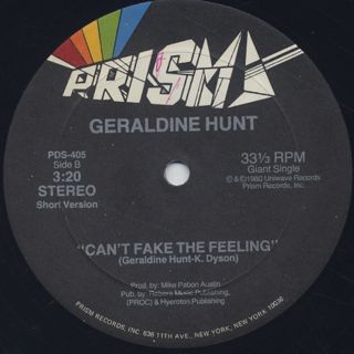Geraldine Hunt / Can't Fake The Feeling label