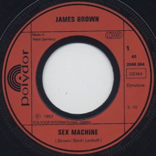 James Brown / Sex Machine c/w It's A Man's Man's World label