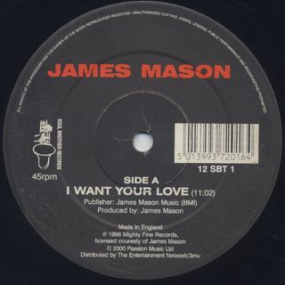 James Mason / I Want Your Love (Re) back